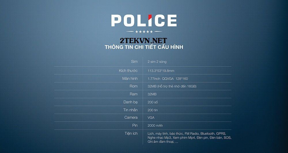 Cấu hình điện thoại Smobile police