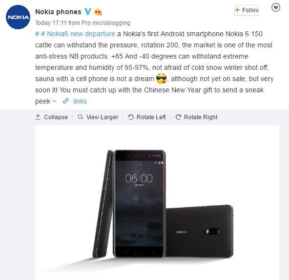 Nokia 6 siêu bền