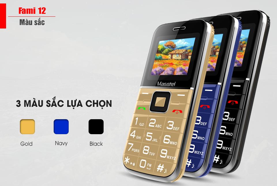 Các màu sắc điện thoại fami 12