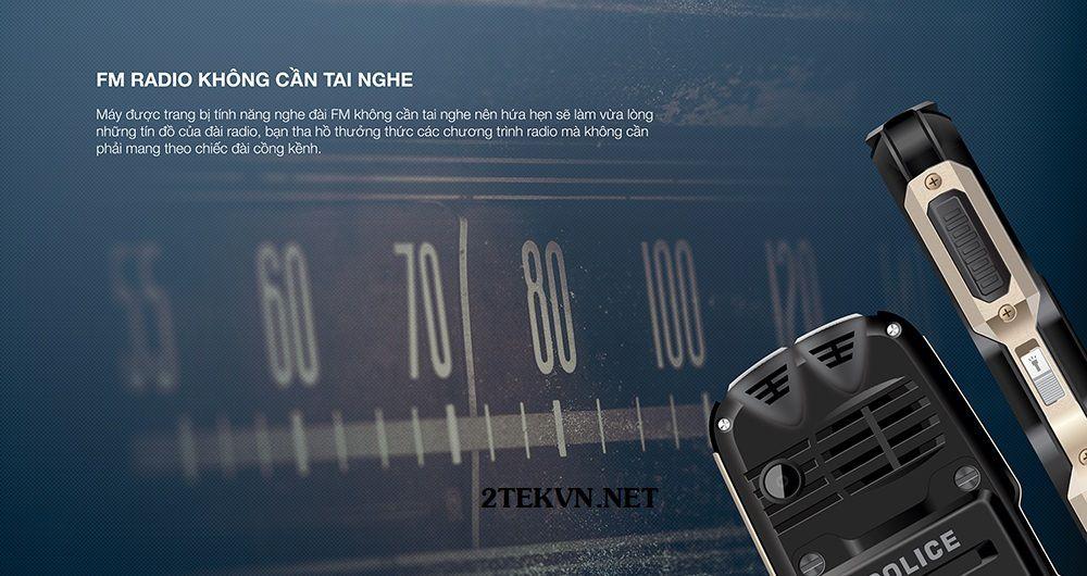 Điện thoại Smobile Police nghe FM không cần tai nghe