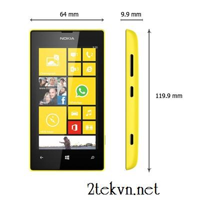 Kích thước Lumia 520