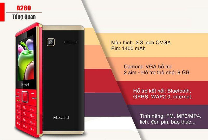 Điện thoại Masstel A280 1