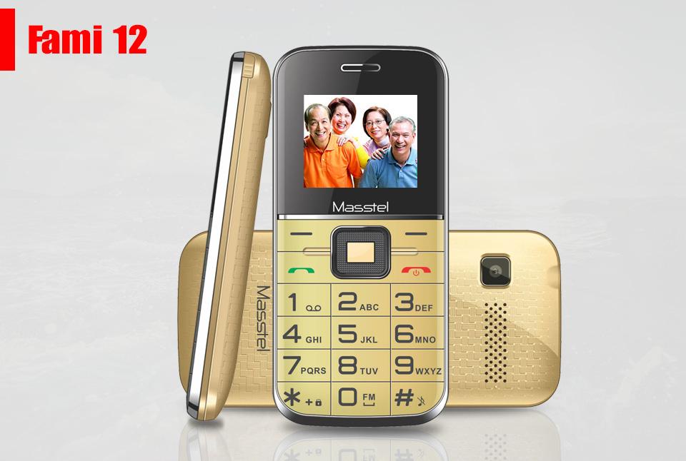điện thoại 2 sim có đèn pin fami 12
