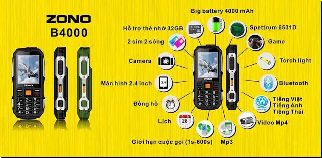 điện thoại pin khủng 500k chính hãng