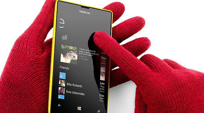 Màn hình Lumia 520 siêu cảm ứng