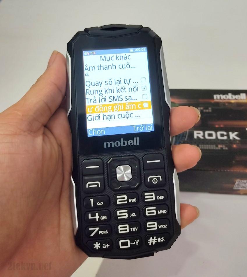 Điện thoại mobell rock 1 ghi âm cuộc gọi