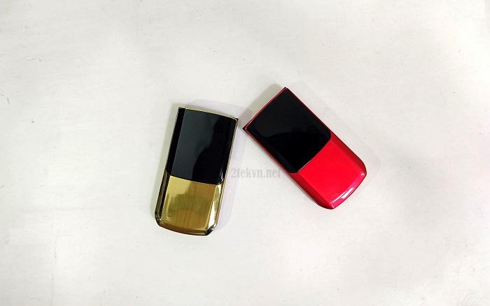 Điện thoại nắp gập TKEXUN màu vàng, đỏ