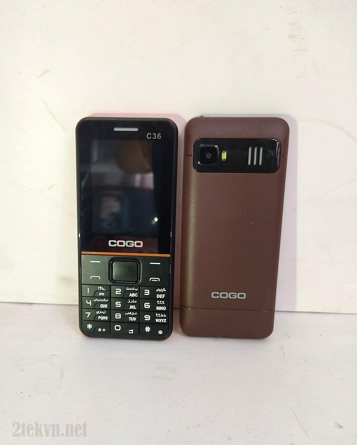 Cogo C36 có thiết kế dạng thanh truyền thống