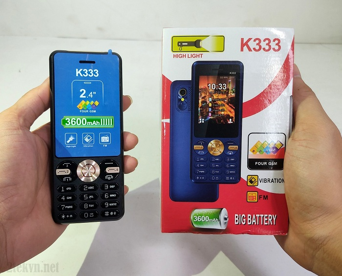 Nokia K333 có thiết kế nhỏ gọn, dễ sử dụng