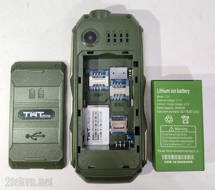 THT C20 có dung lượng Pin khủng