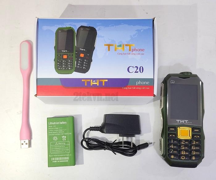 full box chiếc điện thoại THT C20