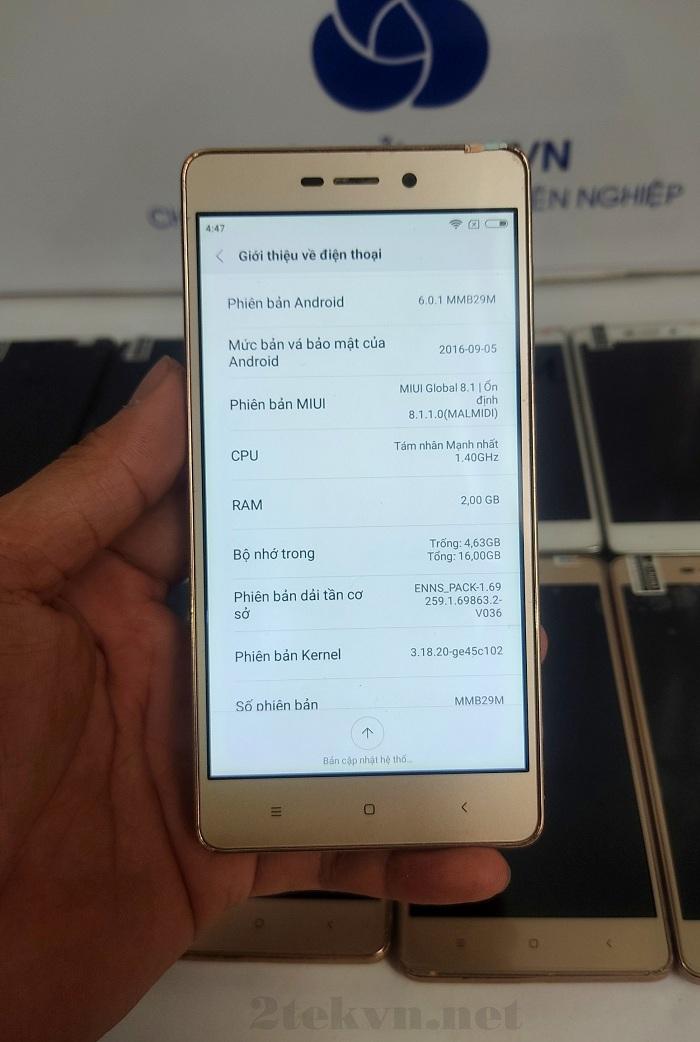 Thông số cấu hình cơ bản của Xiaomi Redmi 3S